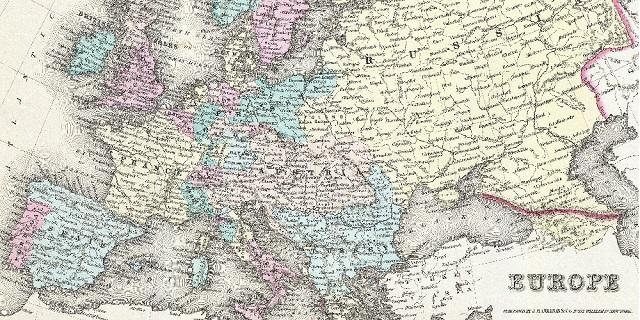 mappa d'europa