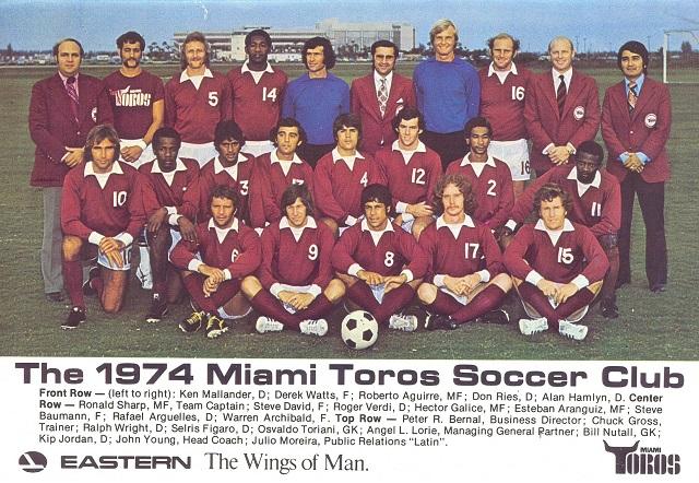 Miami Toros, la squadra americana con la maglia granata