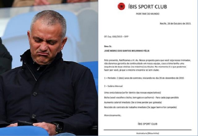 Mourinho: Ibis, peggior club al mondo gli offre la panchina
