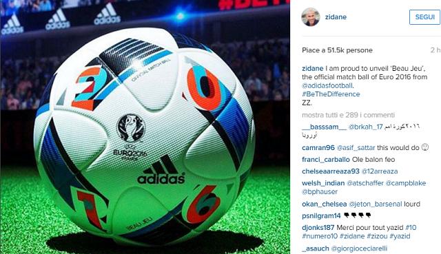 Pallone ufficiale Euro 2016 Beau Jeu by Adidas