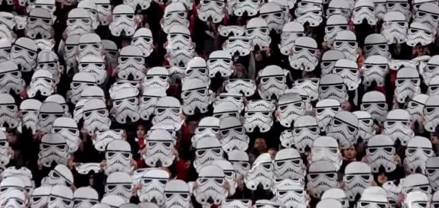 CSKA Sofia: coreografia da stadio Star Wars style