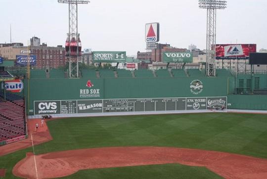 Green Monster, il muro verde dello stadio di Boston