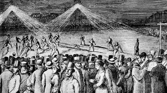 La prima partita con luci artificiali: a Sheffield nel 1878!