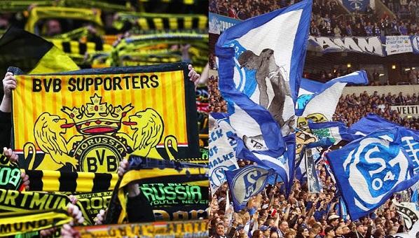 Schalke 04-Borussia Dortmund-tifosi-derby-ruhr