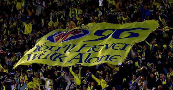 I tifosi del Villarreal ricordano le vittime di Hillsborough