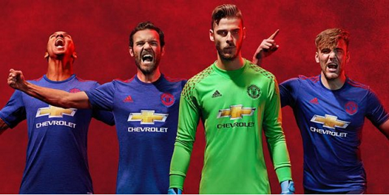 Manchester United: seconda maglia 2016-17 blu !!