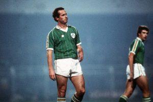Liam Brady in maglia d'Irlanda