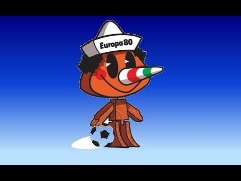 Pinocchio: la prima mascotte degli europei di calcio- Italia 1980