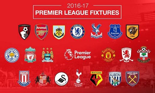 Premier League: il calendario della stagione 2016-17