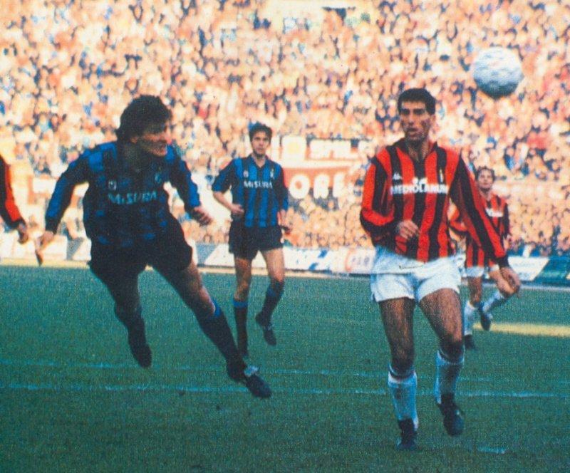 Milan-Inter 0-1: Serena firma la vittoria nell'anno record 1988-89