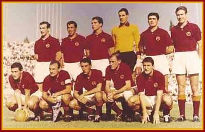 11 ottobre 1961: la formazione vincitrice In piedi: Angelillo, Pestrin, Orlando, Cudicini, Fontana , Carpanesi Accosciati: Lojacono, Losi (Capitano), Corsini, Manfredini, Menichelli