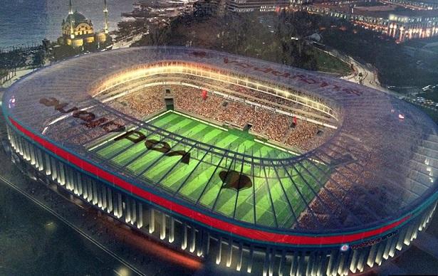visione notturna della Besiktas Arena