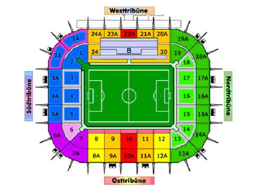 la mappa dello stadio