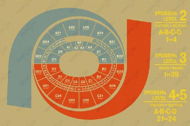 La mappa della Megasport Arena di Mosca