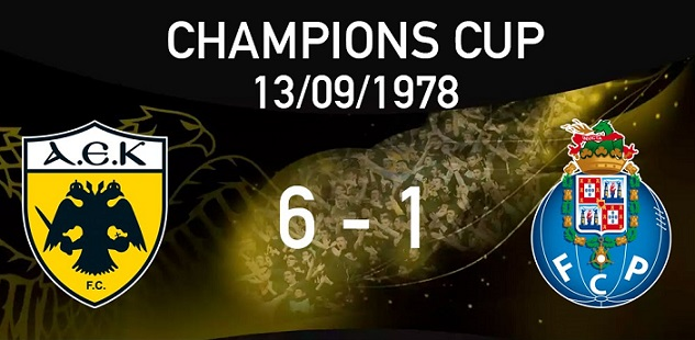 La peggior sconfitta del Porto nelle coppe europee