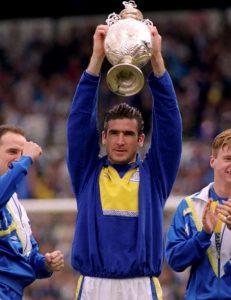 Eric Cantona vincitore con il Leeds