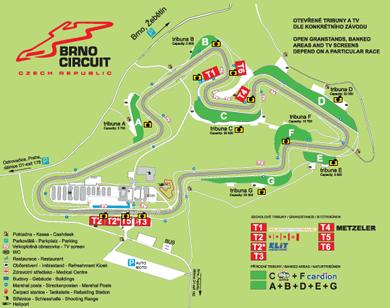 Il circuito di Brno nel dettaglio