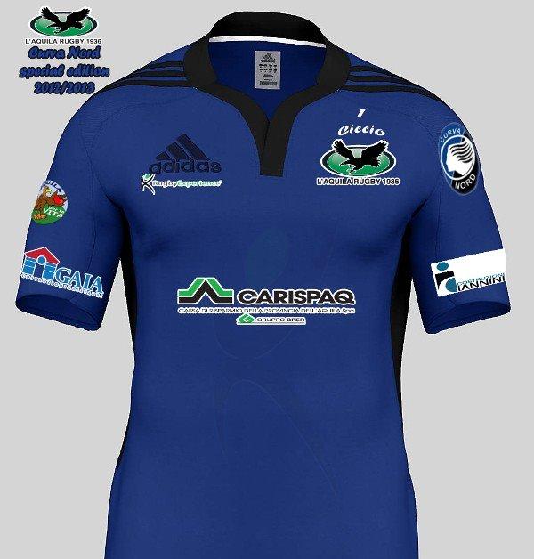 LA terza maglia dell'Aquila rugby dedicata alll'Atalanta