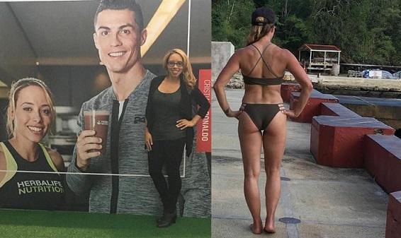 Cristiano Ronaldo e la sua nuova PT Samantha