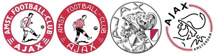 I diversi loghi dell'Ajax