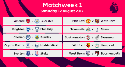 Calendario Manchester United.Premier League 2017 18 Calendario Completo Partite