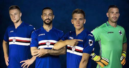Maglia Sampdoria 2017-18: Baciccia torna sul braccio