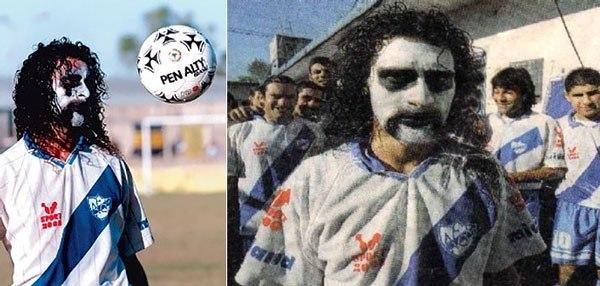 Darío Dubois, il calciatore che si dipingeva il volto