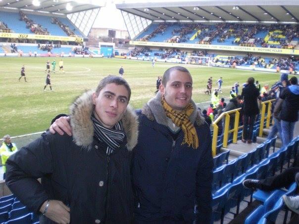 enrico dell'anno con amico allo stadio