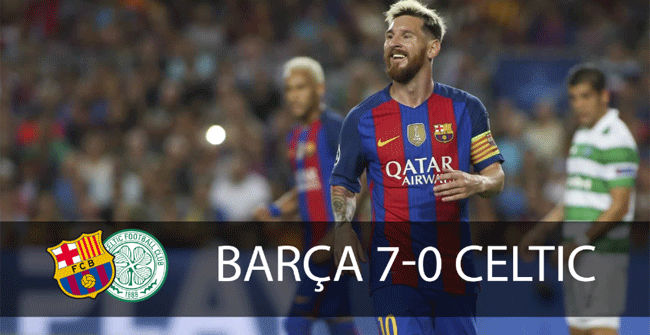 La vittoria più larga del Barcellona in Champions League