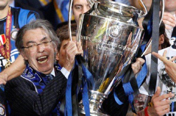 Moratti nel giorno della vittoria della Champions