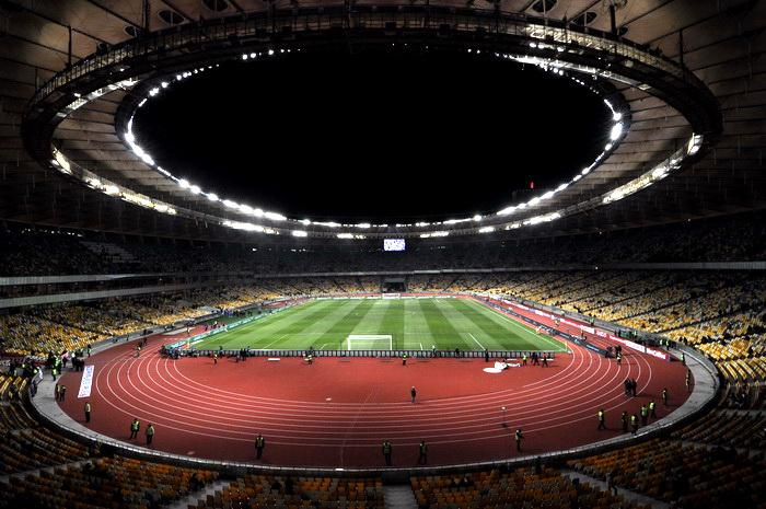 Lo Stadio Olimpico di Kiev, sede della finale Champions League 2018
