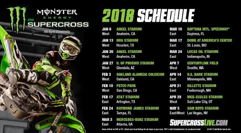 Calendario AMA Supercross 2018