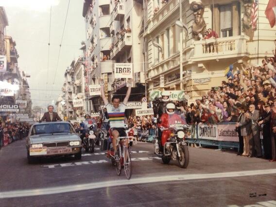 Milano Sanremo Saronni 1983: vittoria in maglia iridata