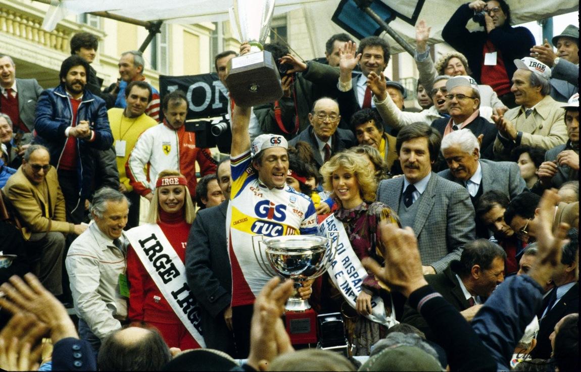 Milano Sanremo Moser 1984: il sigillo del trentino sulla Riviera