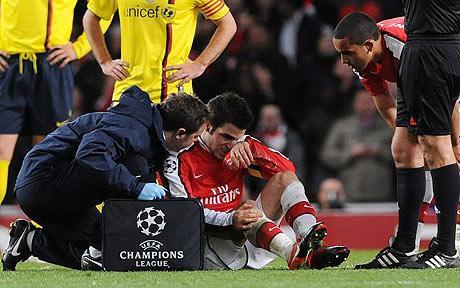 Arsenal-Barcellona: quando Fabregas segnò con la gamba rotta